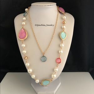 Plunder Holland Necklace - Spring Colors w/ Pearls